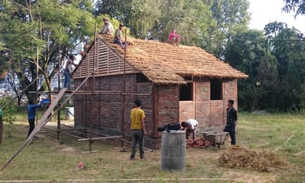Creation from catastrophe … Shigeru Ban's timber-frame and brick-infill housing for 2015 Nepal earthquake victims