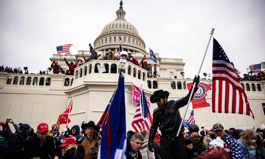 Trump supporters who stormed the Capitol in January. Impeachment managers are expected to draw previously unseen footage from police, from the media, and from live-streams captured by the insurrectionists themselves,
