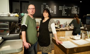 Stuart Homer and Loraine Stockton in their cafe, Gather