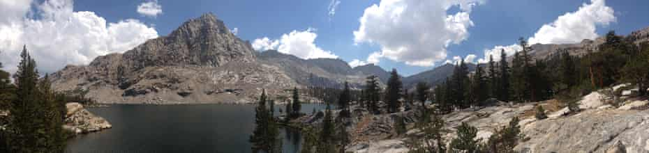 View of the Sierras from the Sequoia national park, adjacent to Inyo national forest.