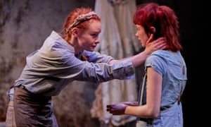 Orca at Southwark Playhouse. Rona Morrison (Maggie) and Carla Langley (Fan).