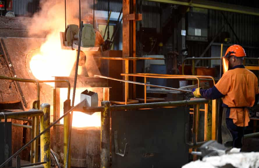 Worker at a foundry at Backwell IXL manufacturing facility in Geelong.