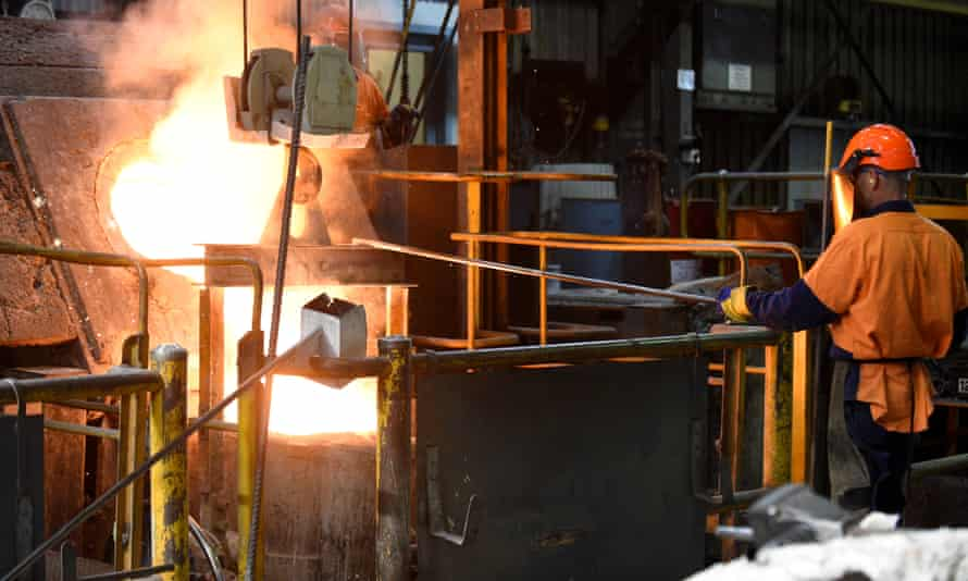 Workers at a foundry at Backwell IXL manufacturing facility in Geelong.
