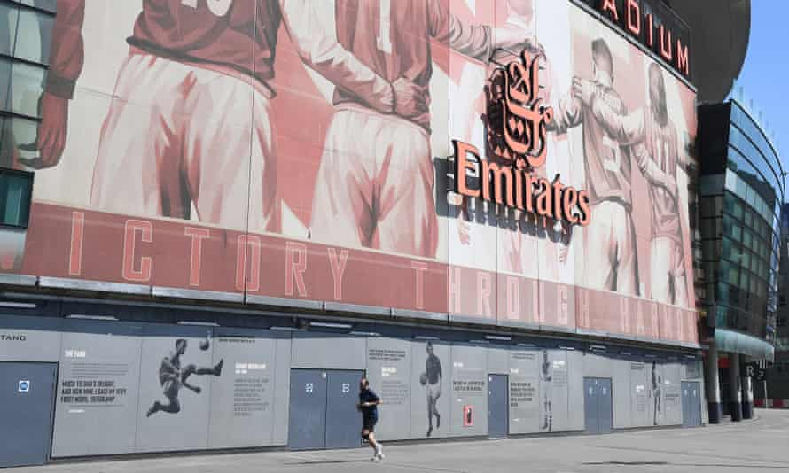 Premier League football behind closed doors may return to grounds such as the Emirates Stadium with frequent testing for Covid-19.
