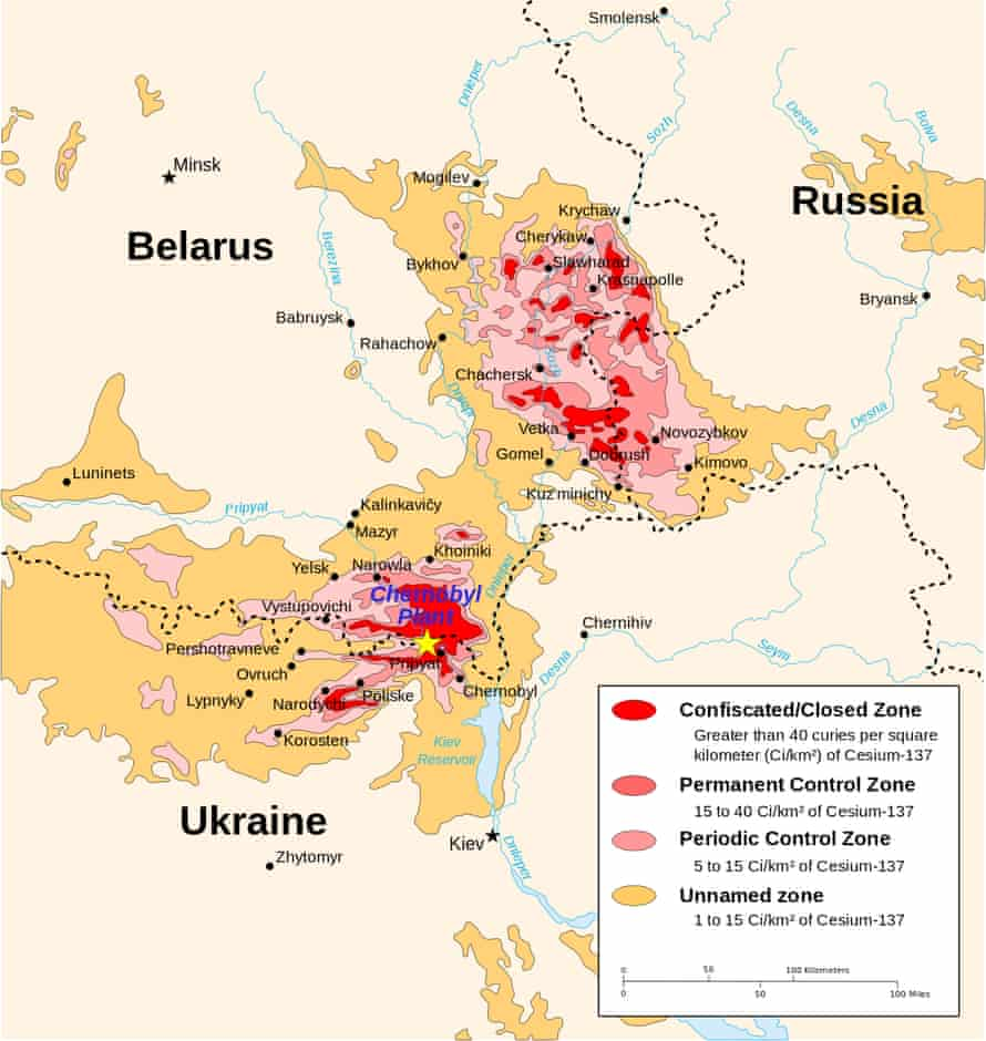 """Chernobyl radiation map from CIA handbook (<a href=""""https://commons.wikimedia.org/wiki/User:Sting"""">Sting</a> (vectorisation), <a href=""""https://commons.wikimedia.org/wiki/User:Mtruch"""">MTruch</a> (English translation), <a href=""""https://en.wikipedia.org/wiki/User:Makeemlighter"""">Makeemlighter</a> (English translation)."""