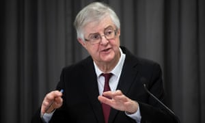 Mark Drakeford at a press conference in December, just after the level 4 restrictions were announced.