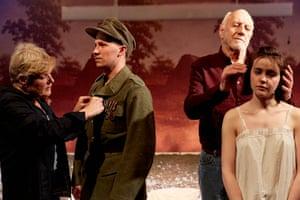 Alwyne Taylor, Bradley Hall, Paul Haley and Hannah Milward in This Beautiful Future.