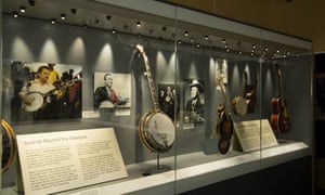 Display of instruments at Bristol's Birthplace of Country Music Museum