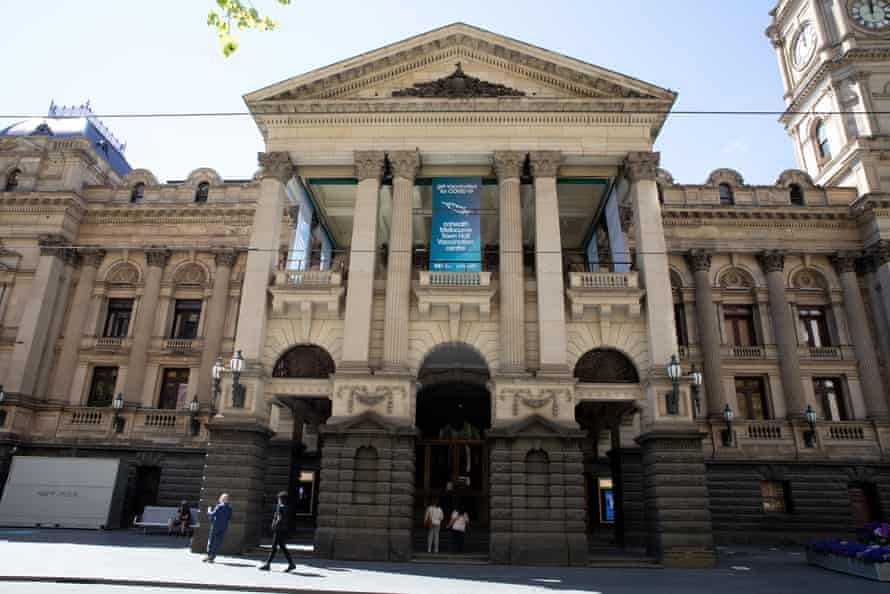 The Cohealth Melbourne Town Hall vaccination centre has been closed until Monday due to protests.