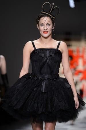 Caroline Flack at London fashion week.