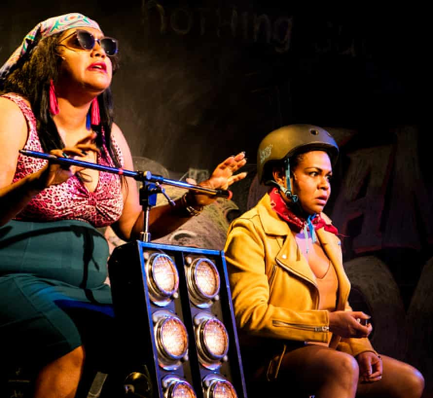 Elaine Crombie and Ursula Yovich performing in Barbara and the Camp Dogs
