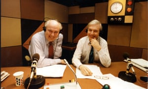 Peter Hobday, left, with John Humphys in the Today studio.