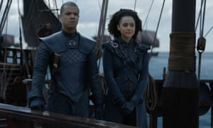 Grey Worm and Missandei in Game of Thrones.