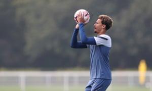 Dele Alli in Tottenham training