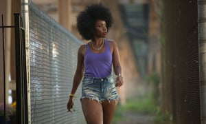 On the warpath … Teyonah Parris as Lysistrata in Chi-Raq.