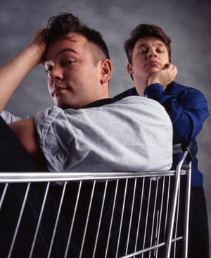 Stewart Lee with former comedy partner Richard Herring in the 1990s.