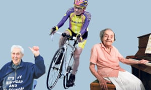 From left: record-holder Jack Reynolds, 105; cyclist Robert Marchand, 105; and pianist Alice Herz-Sommer, 110.