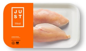 Concept image of Just lab-grown chicken breasts in packaging