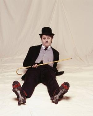 Merton as Chaplin in Paul Merton's Silent Clowns (2006).