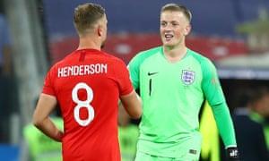 Jordan Henderson and Pickford