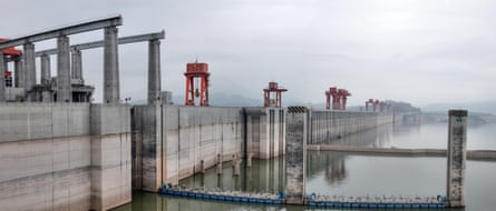 The Three Gorges Dam on the Yangtze river in China.