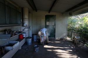 Thomas Gillard prepares a bee smoker prior to examining hives at the BEE Lab. The BEE lab has facilities on Parramatta Rd, Sydney, the Crommelin research station at Pearl Beach, NSW and Molecular laboratories at the University of Sydney.