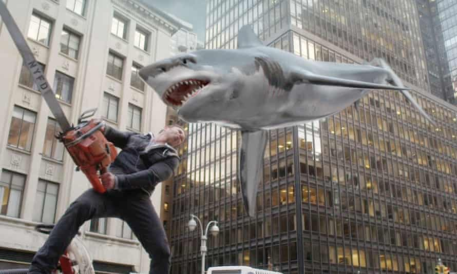 He saw a shark ... Sharknado 2.
