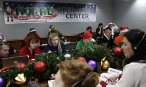 Volunteers take phone calls at the North American Aerospace Defence Command