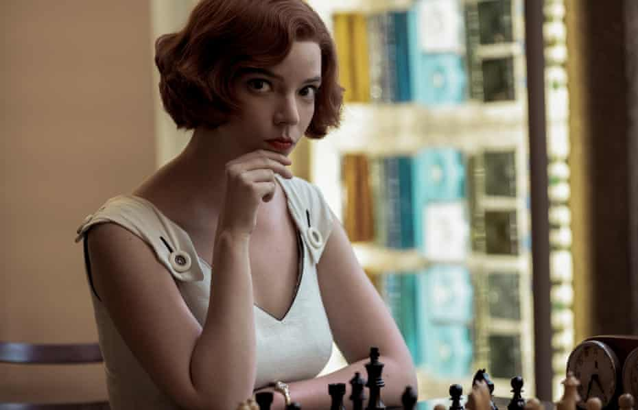 Your move … Anya Taylor Joy as Beth in The Queen's Gambit.