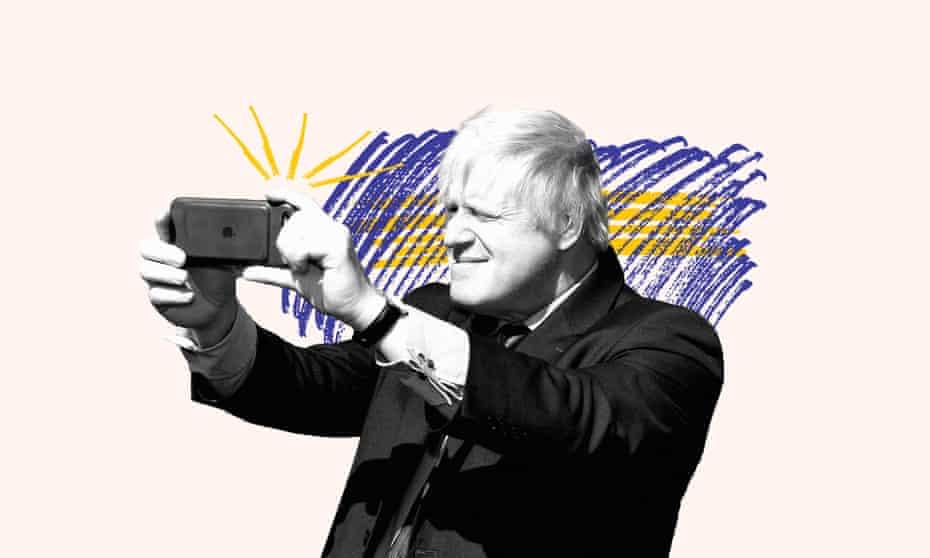 Boris takes a selfie