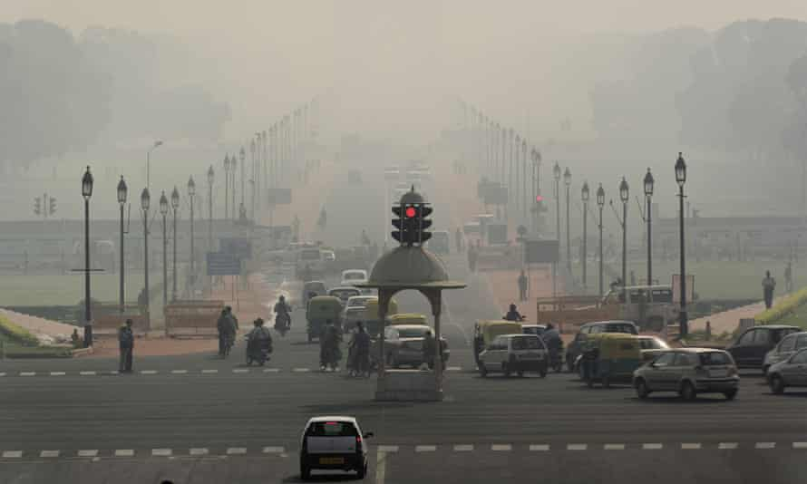 Air pollution in Delhi, India. The supreme court has told state governments to compensate citizens if they don't have access to clean air and water.