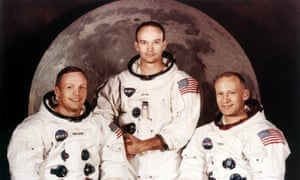 A 1969 crew portrait of Apollo astronauts Neil Armstrong, left, Michael Collins, centre, and Buzz Aldrin.