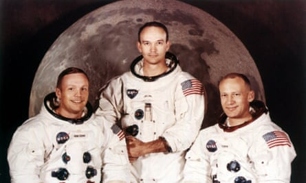 A 1969 crew portrait of Apollo astronauts Neil Armstrong, left, Michael Collins, centre, and Buzz Aldrin.