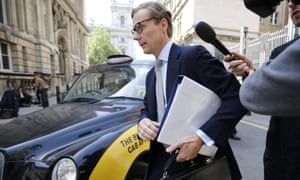 Cambridge Analytica's former CEO, Alexander Nix, arriving in Westminster to give evidence to the UK parliament's digital, culture, media and sport select committee in June.