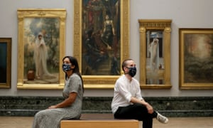 Visitors at the Tate Britain gallery in London, 24 July 2020
