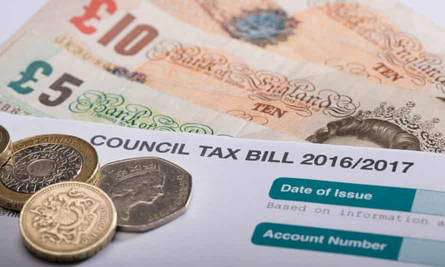 Council tax bill and cash