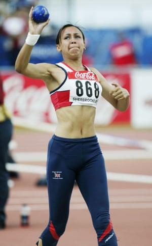 Jessica Ennis shot puts in 2003
