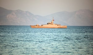A Turkish naval vessel near the Bodrum peninsula in 2016. The weekend saw a tense standoff between Turkish and Greek forces near a group of disputed Greek islets in the Aegean.