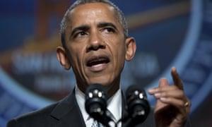 Barack Obama speaks about gun violence in 2015.