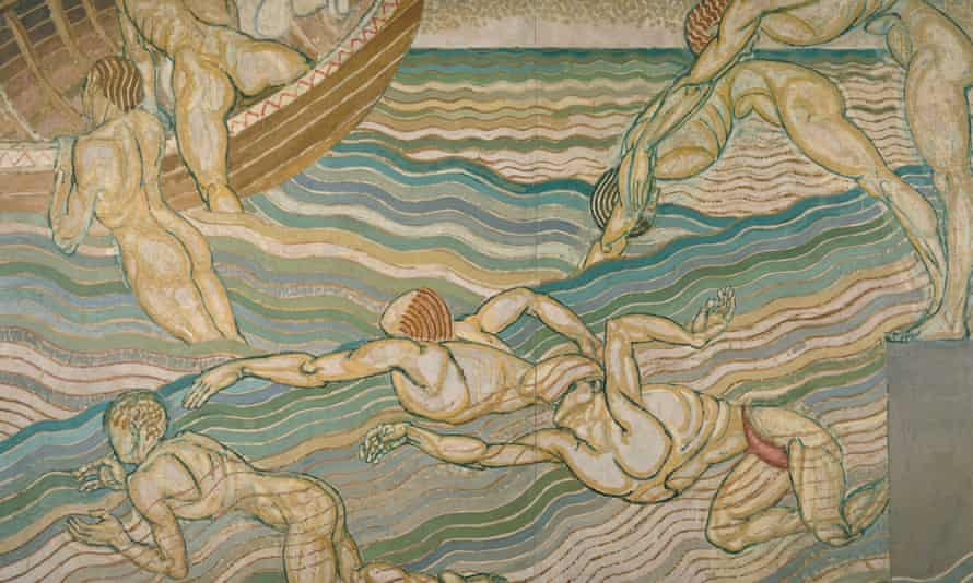 Bathing by Duncan Grant, 1911, oil paint on canvas.