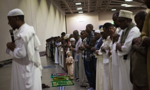 Thousands of Somalis showed up to pray at the Minneapolis Convention Center to mark Eid al-Fitr, the end of Ramadan