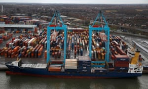 The container terminal in Liverpool