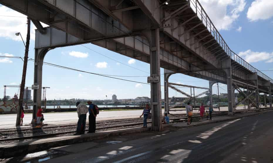 The elevated railway line which could become Havana's High Line.