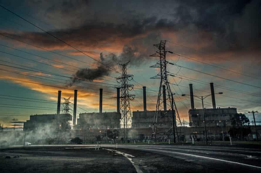 Hazelwood coal mines in Morwell, Australia