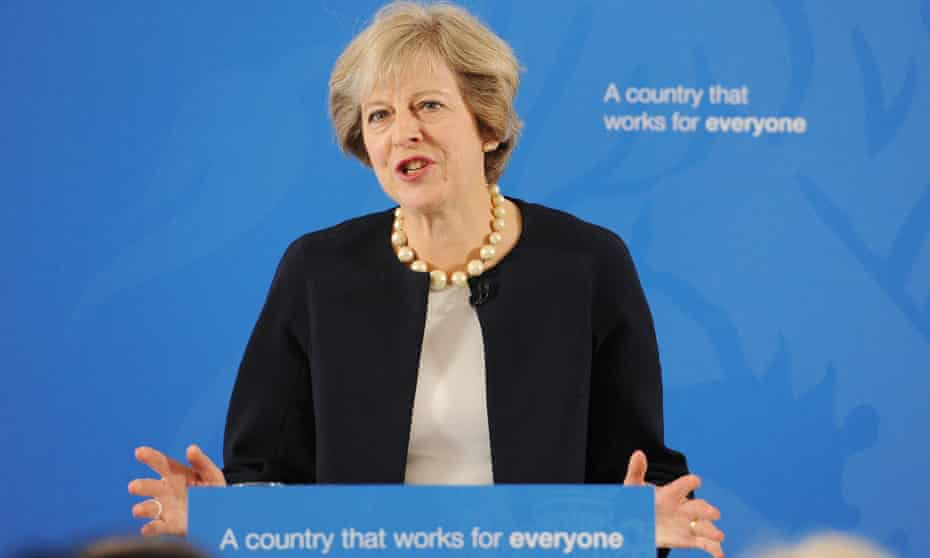 Theresa May announcing her proposals on grammar schools last week.