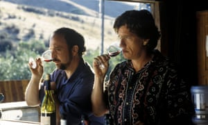 'If anyone orders merlot, I'm leaving' … Paul Giamatti as Miles, left, and Thomas Haden Church as Jack in the film version of Sideways.
