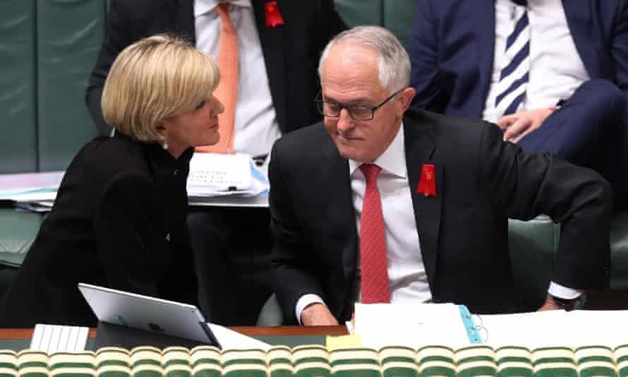 Julie Bishop, left, and Malcolm Turnbull