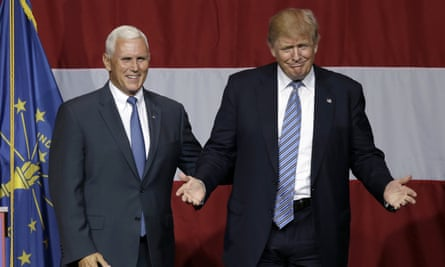 Donald Trump, Mike PenceFILE - In this July 12, 2016 file photo, Indiana Gov. Mike Pence joins Republican presidential candidate Donald Trump at a rally in Westfield, Ind. Trump has chosen Indiana Pence as his running mate, adding political experience and conservative bona fides to his Republican presidential ticket. Trump announced his decision on Twitter Friday morning, capping a frenzied 24 hours of speculation about his choice. (AP Photo/Michael Conroy, File)