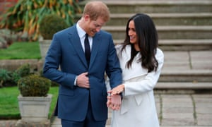 Prince Harry and Meghan Markle pose at Kensington Palace in west London on 27 November 2017. Markle grew up in Los Angeles and her mother, Doria Ragland, still resides there.