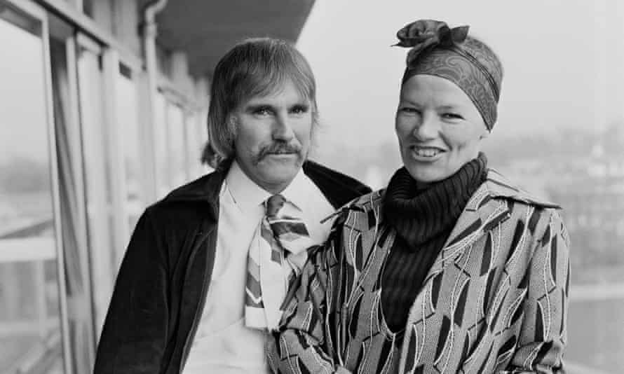 The view from here: with her then-husband Roy Hodges 1971. She had just been awarded an Academy Award for her role as Gudrun in Women in Love.